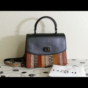 New.Coach Parker 79269 Top Handle Snakes
